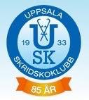 Uppsala Skridskoklubbs logo för jubiler