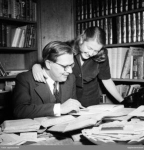Gösta Knutsson, redaktör och filosofie magister, Uppsala 1948. (dekorativ bild)